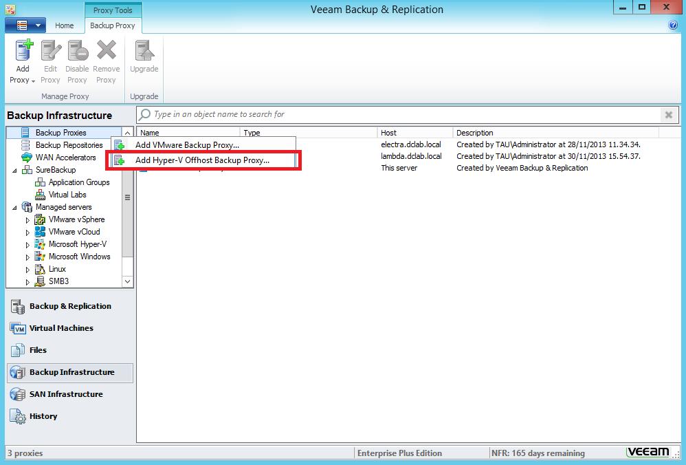 Configuring LAN-Free backups in Veeam B&R for Microsoft